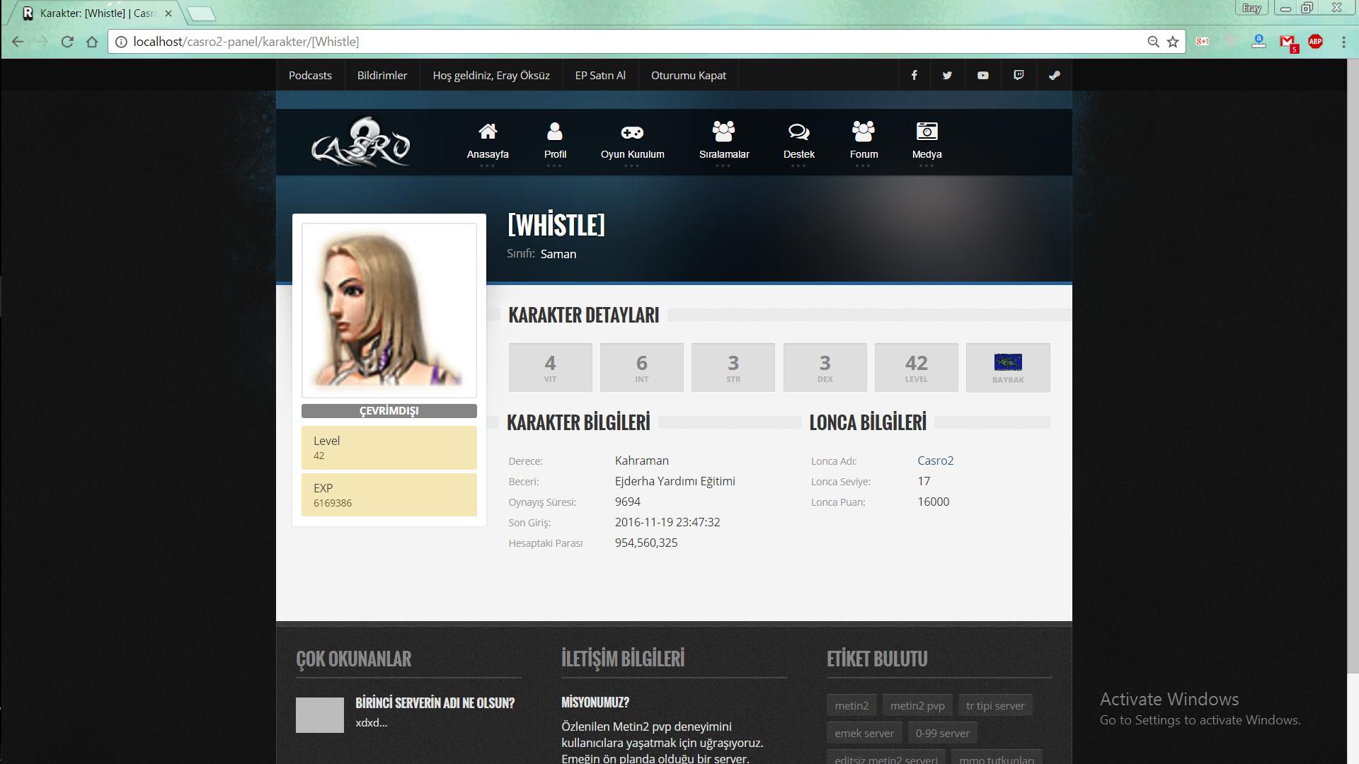 Karakter Profili